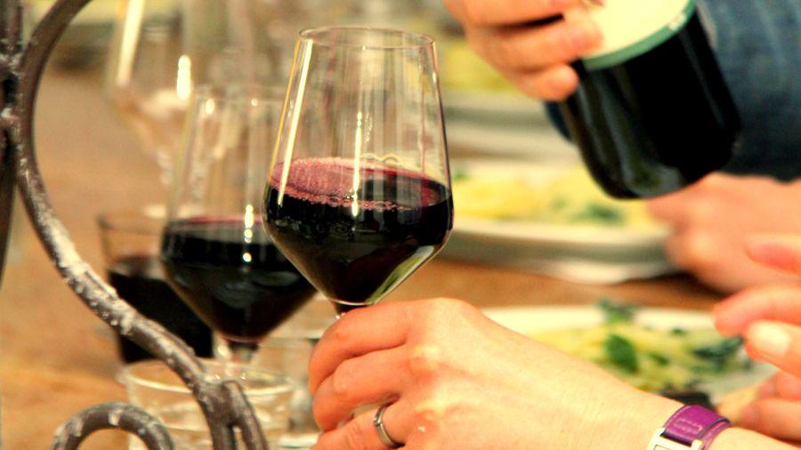 Frisse rode wijn
